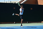 during Round One of the 2018 NCAA Men's Tennis Championship at the Wake Forest Tennis Center on May 12, 2018 in Winston-Salem, North Carolina.  The Gamecocks defeated the Monarchs 4-1.  (Brian Westerholt/Sports On Film)
