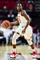 College Park, MD - NOV 13, 2017: Maryland Terrapins guard Channise Lewis (3) in action during game between No. 4 ranked South Carolina and the No. 15 Maryland Terrapins at the XFINITY Center in College Park, MD. The Gamecocks defeated Maryland 94-86.  (Photo by Phil Peters/Media Images International)