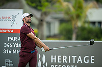 Lee Slattery (ENG) during the 3rd round of the AfrAsia Bank Mauritius Open, Four Seasons Golf Club Mauritius at Anahita, Beau Champ, Mauritius. 01/12/2018<br /> Picture: Golffile | Mark Sampson<br /> <br /> <br /> All photo usage must carry mandatory copyright credit (© Golffile | Mark Sampson)