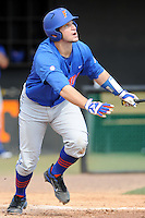 Florida Gators catcher Mike Zunino #3 swings at a pitch during a game against the Tennessee Volunteers at Lindsey Nelson Stadium, Knoxville, Tennessee April 14, 2012. The Volunteers won the game 5-4  (Tony Farlow/Four Seam Images)..
