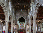 Inside church of Saint Thomas, Salisbury, Wiltshire, England, UK