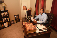 NWA Democrat-Gazette/MICHAEL WOODS &bull; @NWAMICHAELW<br /> Todd Kitchen in his favorite space at his home office in Fayetteville Tuesday September 20, 2016.