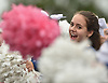 Jordyn Marro of Oceanside cheers for the varsity football team as they take the field after halftime of a Nassau County Conference I game at Baldwin High School on Saturday, Oct. 6, 2018.