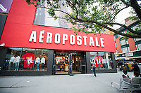 An Aeropostale store on Fulton Street in Downtown Brooklyn in New York on Sunday, October 2, 2011. As more high-rise condominiums are built in the area the demographics are changing and chain stores are renting space in Downtown Brooklyn. The chains can pay higher rents and are forcing some of the local stores to close.  (© Richard B. Levine)