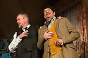 London, UK. 08.07.2013. THE LADYKILLERS, by Graham Linehan, and directed by Sean Foley, opens at the Vaudeville Theatre. Picture shows: John Gordon Sinclair (Professor Marcus) and Simon Day (Major Courtney). Photograph © Jane Hobson.