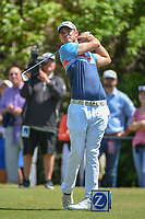 Wesley Bryan (USA) watches his tee shot on 3 during Round 1 of the Zurich Classic of New Orl, TPC Louisiana, Avondale, Louisiana, USA. 4/26/2018.<br /> Picture: Golffile | Ken Murray<br /> <br /> <br /> All photo usage must carry mandatory copyright credit (&copy; Golffile | Ken Murray)