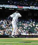 Hisashi Iwakuma (Mariners),<br /> JUNE 5, 2013 - MLB :<br /> Hisashi Iwakuma of the Seattle Mariners during the baseball game against the Chicago White Sox at Safeco Field in Seattle, Washington, United States. (Photo by AFLO)