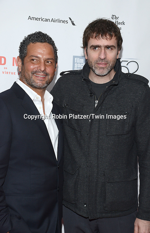 writers Alexander Dinelaris and Nicolas Giacobone attends &quot;Birdman or The Unexpected Virtue of Ignorance&quot; screening at The 52nd New York Film Festival on October 11, 2014 at Alice Tully Hall in New York City. <br /> <br /> photo by Robin Platzer/Twin Images<br />  <br /> phone number 212-935-0770