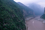 trackers gallery trail in Qutang Gorge, Three Gorges of the Yangtze River, China