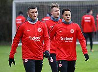 Renat Dadashov (Eintracht Frankfurt), Max Besuschkow (Eintracht Frankfurt), Deji Beyreuther (Eintracht Frankfurt) - 29.12.2017: Eintracht Frankfurt Training, Commerzbank Arena