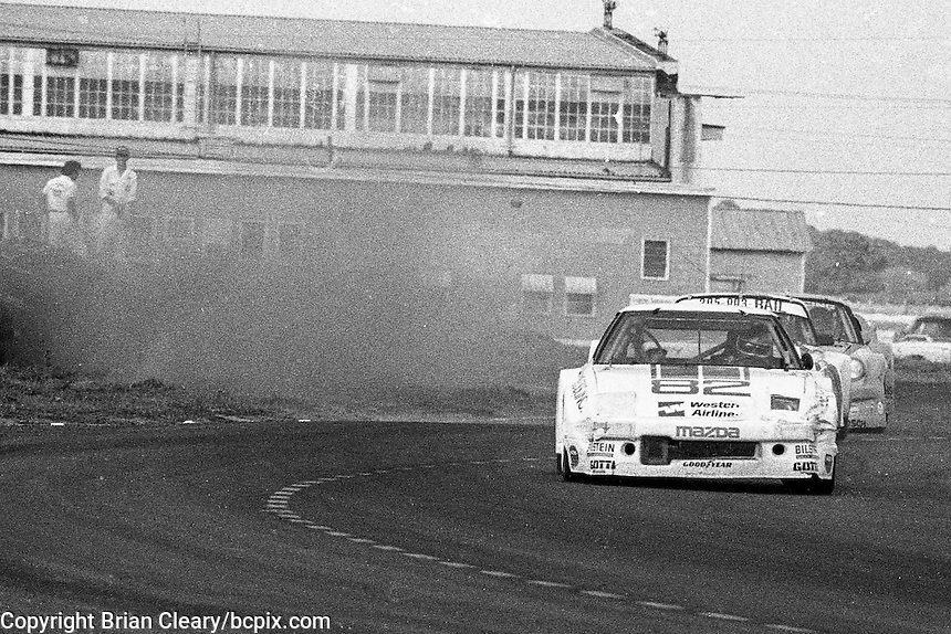 #82 Mazda RX-7 of John Casey, Jack Baldwin, and Joe Varde (8th place) 12 Hours or Sebring, Sebring International Raceway, Sebring, FL, March 19, 1983.  (Photo by Brian Cleary/bcpix.com)