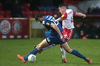 David Parkhouse of Stevenage and Cameron Burgess of Salford City during Stevenage vs Salford City, Sky Bet EFL League 2 Football at the Lamex Stadium on 15th February 2020