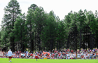 Jul 31, 2009; Flagstaff, AZ, USA; Fans fill the sidelines during the Arizona Cardinals practice at training camp on the campus of Northern Arizona University. Mandatory Credit: Mark J. Rebilas-