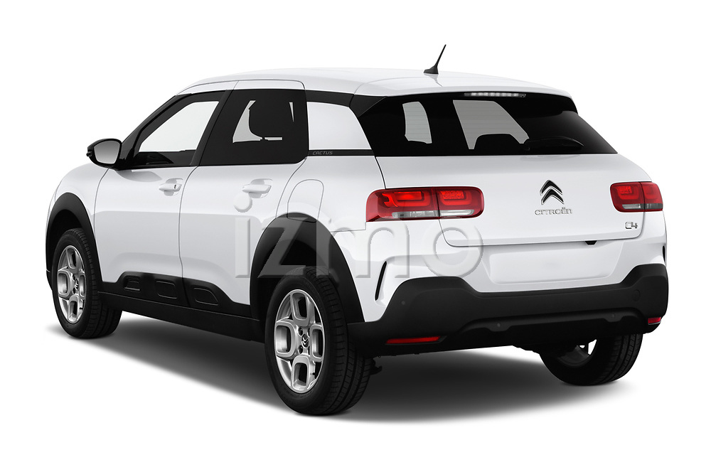 Car pictures of rear three quarter view of a 2018 Citroen C4 Cactus Shine 5 Door SUV angular rear