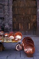 Copper ware for sale in  in San Miguel de Allende, Mexico.