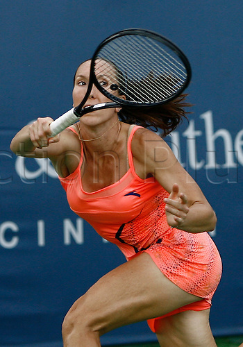 21.08.2011..Jelena Jankovic [SRB] at the 2011 Western & Southern Open Women's Championship at the Western & Southern Open at the Lindner Family Tennis Center in Mason, Ohio...Maria Sharapova [RUS] defeated Jelena Jankovic [SRB] 4-6, 7-6, 6-3..