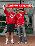 Liverpool unveil their Ukraine striker Andriy Voronin who is moving to Anfield on a free transfer, pictured with him is Liverpool manager Rafael Benitez