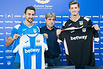 CD Leganes' news players Juan Muñoz (l) and Andre Grandi (r) during his official presentation. July 09, 2019. (ALTERPHOTOS/Francis Gonzalez)