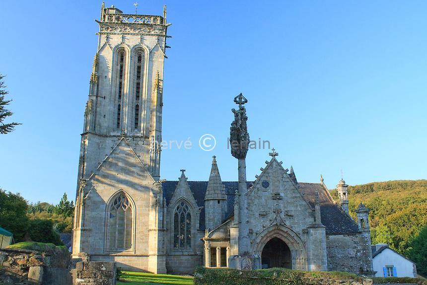 France, Finistère (29), Plonevez-du-Faou, chapelle de Saint-Herbot // France, Finistère, Plonevez-du-Faou, chapel of Saint-Herbot