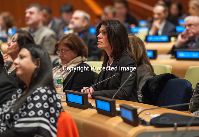 First observance of the International Day of Commemoration and Dignity of the Victims of the Crime of Genocide and of the Prevention of this Crime (co-organized by the Permanent Mission of Armenia, the President of the General Assembly and the United Nations Office on Genocide Prevention and the Responsibility to Protect)<br /> Speakers:<br /> <br /> - Mogens Lykketoft, President of the 70th session of the United Nations General Assembly<br /> - Jan Elliasson, Deputy Secretary-General of the United Nations<br /> Zohrab Mnatsakanyan, Permanent Representative of Armenia to the United Nations<br /> - Adama Dieng, Special Adviser of the Secretary General on the Prevention of Genocide<br /> - Pablo de Greiff, Special Rapporteur on the promotion of truth, justice, reparations and guarantees of non-recurrence