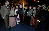 "Actor Tony Roper - with some of the amateur ""players"" - in the Britannia Panoptican in Glasgow, after he presented the long-lost variety music hall with some ink drawings of old Glasgow theatres. The print was given to Roper by the family of Ricki Fulton - picture by Donald MacLeod 05.03.09"