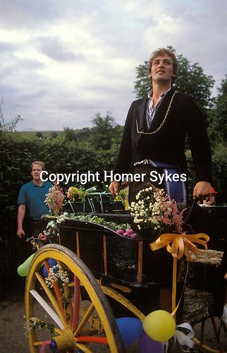 Kilburn Feast. The Mock Mayor. Kilburn Yorkshire. UK.