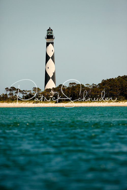Cape Lookout Lighthouse Accessed Only By Ferry In The Cape