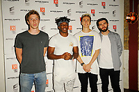 LONDON, ENGLAND - AUGUST 8: Calfreezy, KSI, Miniminter, Zerkaa attending 'KSI: Can't Lose' World Premiere at Picturehouse Central on August 8, 2018 in London, England.<br /> CAP/MAR<br /> &copy;MAR/Capital Pictures