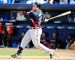 2 March 2010: Atlanta Braves first baseman Eric Hinske in action against the New York Mets during the Opening Day of Grapefruit League play at Tradition Field in Port St. Lucie, Florida. The Mets defeated the Braves 4-2 in Spring Training action. Mandatory Credit: Ed Wolfstein Photo
