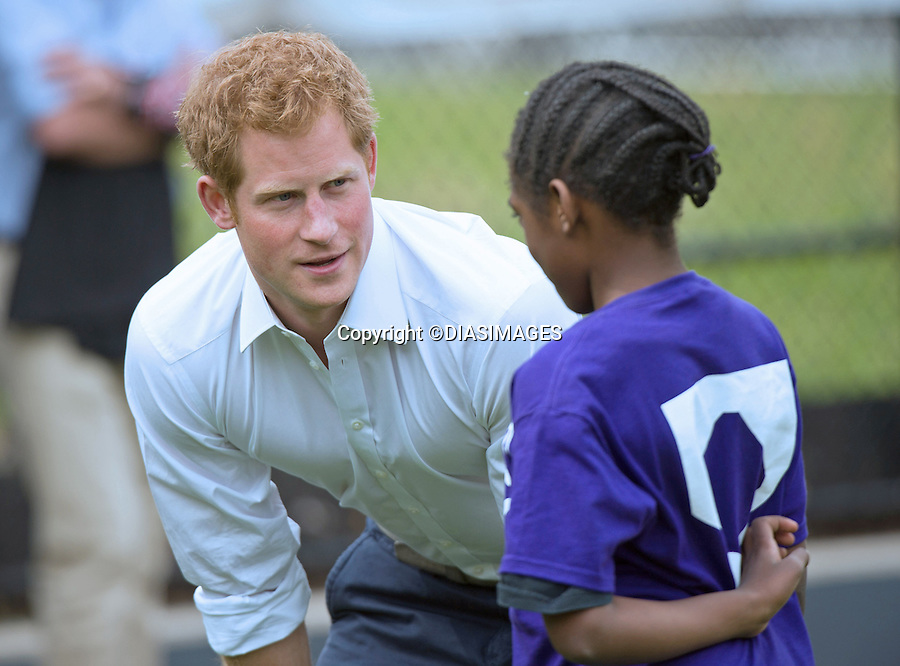 """PRINCE HARRY .visits Harlem RBI a baseball program for inner cities..The Prince was shown round by Yankees first baseman Mark Teixeira and had a game with the kids_14/05/2013.Prince Harry is on a week long USA visit the includes Washington, Denver, Colorado Springs, New Jersey, New York and Conneticut..Mandatory credit photo:©DIASIMAGES..NO UK USE UNTIL 13/6/2013.(Failure to credit will incur a surcharge of 100% of reproduction fees)..**ALL FEES PAYABLE TO: """"NEWSPIX  INTERNATIONAL""""**..Newspix International, 31 Chinnery Hill, Bishop's Stortford, ENGLAND CM23 3PS.Tel:+441279 324672.Fax: +441279656877.Mobile:  07775681153.e-mail: info@newspixinternational.co.uk"""