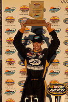 Nov 12, 2005; Phoenix, Ariz, USA;  Nascar driver Carl Edwards celebrates after winning the Busch Series Arizona 200 at Phoenix International Raceway. Mandatory Credit: Photo By Mark J. Rebilas