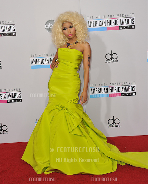 Nicki Minaj at the 40th Anniversary American Music Awards at the Nokia Theatre LA Live..November 18, 2012  Los Angeles, CA.Picture: Paul Smith / Featureflash