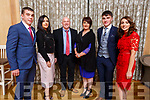 Enjoying the Kerry GAA awards night in the Ballygarry House Hotel on Saturday night.<br /> L-r, James Dennehy (Knocknagree), Fidelma, Donal, Sheila, Darragh and Cliona Rahilly (Rathmore).