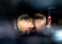 NZ captain Kane Williamson waits to be interviewed after the international Twenty20 cricket match between NZ Black Caps and India at Westpac Stadium in Wellington, New Zealand on Wednesday, 6 February 2019. Photo: Dave Lintott / lintottphoto.co.nz