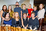 Staff from Arcadia enjoying their Christmas party in Bella Bia on Saturday.<br /> Seated l to r: Jackie O'Shea, Geraldine Parker, Lorraine Griffin and Sinead Reidy.<br /> Back l to r: Bridget McBride, Orla Coffey, David O'Brien, Emma Culloty, Norma Dunne, Aileen Cronin and Joanne Thornton.