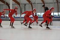 SCHAATSEN: LEEUWARDEN: 20-06-2016, ELFSTEDENHAL, Training Zomerijs, Noorse schaatsers, voorop Håvard Bøkko, ©foto Martin de Jong