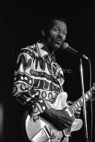 Chuck Berry performing at Musikhalle in Hamburg, Germany, 1977. *** USA ONLY *** © K&K Retna/ MediaPunch