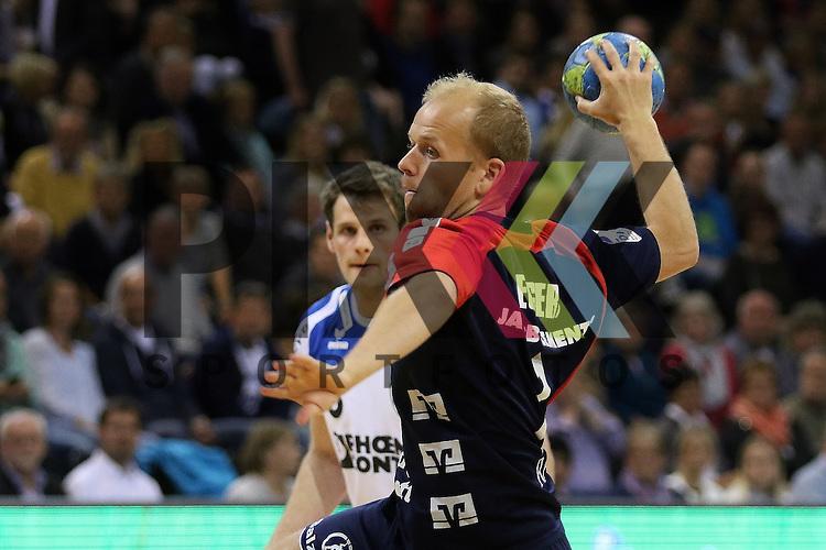 Flensburg, 16.05.2015, Sport, Handball, DKB Handball Bundesliga, Saison 2014/2015, SG Flensburg-Handewitt - TBV Lemgo : Anders Eggert (SG Flensburg-Handewitt, #07)<br /> <br /> Foto &copy; P-I-X.org *** Foto ist honorarpflichtig! *** Auf Anfrage in hoeherer Qualitaet/Aufloesung. Belegexemplar erbeten. Veroeffentlichung ausschliesslich fuer journalistisch-publizistische Zwecke. For editorial use only.