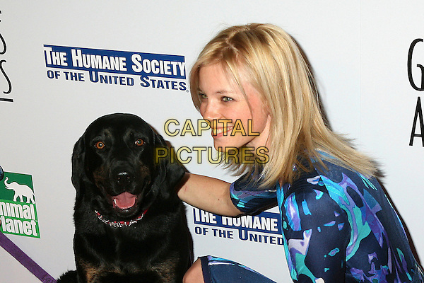 AMY SMART.20th Anniversary Genesis Awards presented by  US Humane Society, Beverly Hills, California, USA..March 18th, 2006.Photo: Byron Purvis/AdMedia/Capital Pictures.Ref: BP/ADM.headshot portrait dog animal pet.www.capitalpictures.com.sales@capitalpictures.com.© Capital Pictures.
