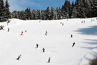 Oesterreich, Salzburger Land, Saalbach-Hinterglemm: beliebtes Skigebiet bei Zell am See, Skipiste | Austria, Salzburger Land, Saalbach-Hinterglemm: popular ski resort near Zell am See, ski run
