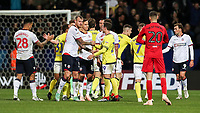 Players from both teams shake hands at the end of the match<br /> <br /> Photographer Andrew Kearns/CameraSport<br /> <br /> The EFL Sky Bet Championship - Bolton Wanderers v Blackburn Rovers - Saturday 6th October 2018 - University of Bolton Stadium - Bolton<br /> <br /> World Copyright &copy; 2018 CameraSport. All rights reserved. 43 Linden Ave. Countesthorpe. Leicester. England. LE8 5PG - Tel: +44 (0) 116 277 4147 - admin@camerasport.com - www.camerasport.com