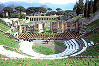 Italy: Pompeii--Great Theater, built 200-150 B.C. and enlarged under Augustus. Photo '83.
