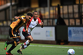 3rd October 2017, The Abbey Stadium, Cambridge, England; Football League Trophy Group stage, Cambridge United versus Southampton U21; Tyreke Johnson of Southampton competes for the ball against Leon Davies of Cambridge United