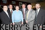 Pictured last Saturday night was J P Foley, James McAuley, Sean O'Connor, John Galvin(Chair of Limerick Football Board), Sean McAuliffe(Sec. of Limerick Football Board), Liam Lennihan(Chair of Limerick County Board) for Fr. Casey's Annual Social night in Abbeyfeale GAA Club.