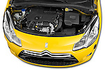 High angle engine detail of a 2013 Citroen DS3 Sport Chic 3 Door Hatchback 2WD