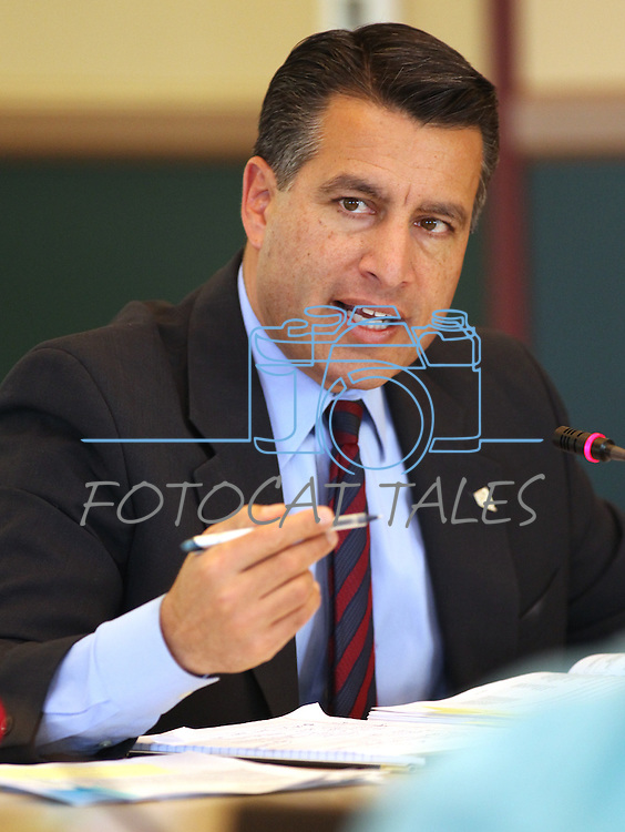 Nevada Gov. Brian Sandoval speaks during the Board of Examiners meeting Tuesday, Nov. 8, 2011, at the Capitol in Carson City, Nev..Photo by Cathleen Allison.