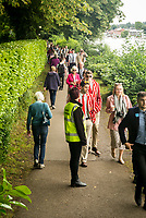 Henley Royal Regatta, Henley on Thames, Oxfordshire, 28 June - 2 July 2017.  Thursday  11:51:04   29/06/2017  [Mandatory Credit/Intersport Images]<br /> <br /> Rowing, Henley Reach, Henley Royal Regatta.<br /> <br /> Crowds on the towpath at Remenham