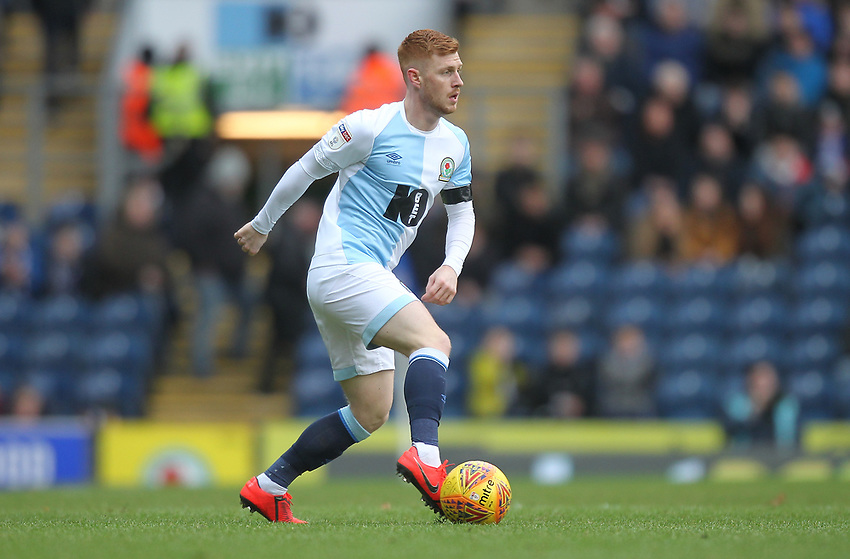 Blackburn Rovers Harrison Reed<br /> <br /> Photographer Mick Walker/CameraSport<br /> <br /> The EFL Sky Bet Championship - Blackburn Rovers v Bristol City - Saturday 9th February 2019 - Ewood Park - Blackburn<br /> <br /> World Copyright © 2019 CameraSport. All rights reserved. 43 Linden Ave. Countesthorpe. Leicester. England. LE8 5PG - Tel: +44 (0) 116 277 4147 - admin@camerasport.com - www.camerasport.com