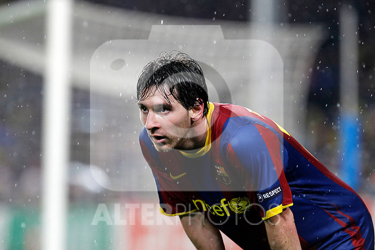 FC Barcelona's Leo Messi during UEFA Champions League match.May 3,2011.(ALTERPHOTOS/Acero)