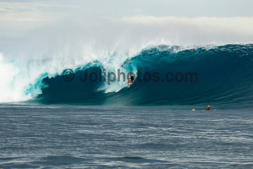 CLOUDBREAK, Tavarua/Fiji (Friday, June 8, 2012) Pat Gudauskas (USA) wipes out.-  The best day of paddle surfing ever seen at Cloudbreak happen today with the swell in the12'-15' range from the south.  The surf pumped all day with amazing performances from of the world best big wave paddle in surfers. The Volcom Fiji Pro completed the last two heats of Round Two with Bede Durbidge and Kai Otten advancing before being call off for the day. Photo: joliphotos.com